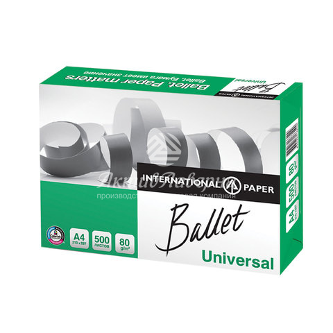бумага офисная ballet universal а4, класс c, 500 л., colorlok, international paper, 146% (cie)